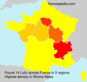 Surname Lulic in France