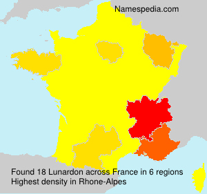 Surname Lunardon in France