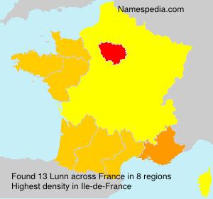 Familiennamen Lunn - France