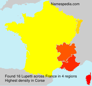 Surname Lupetti in France