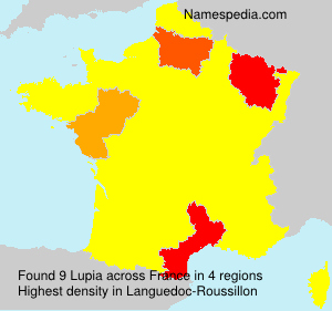 Surname Lupia in France