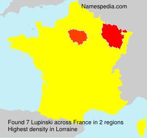 Surname Lupinski in France