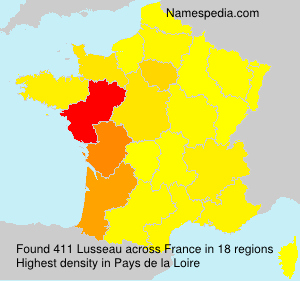 Surname Lusseau in France