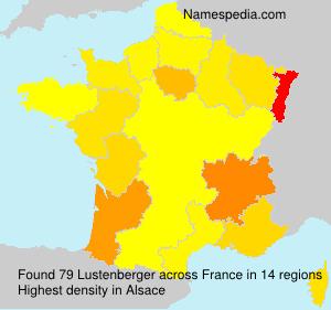 Surname Lustenberger in France