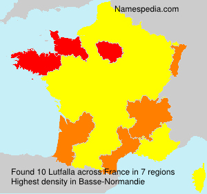 Surname Lutfalla in France