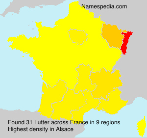 Surname Lutter in France