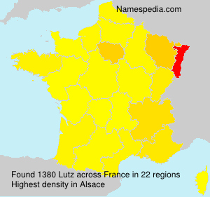 Surname Lutz in France