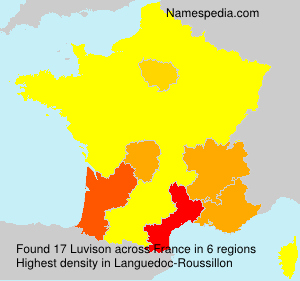 Surname Luvison in France