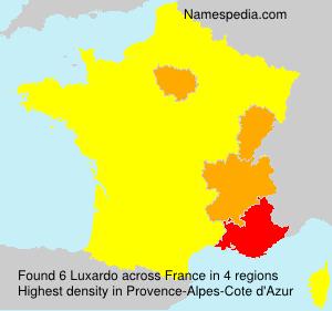 Familiennamen Luxardo - France
