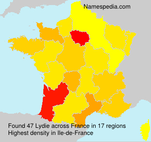 Surname Lydie in France