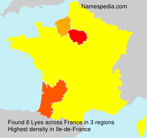 Surname Lyes in France