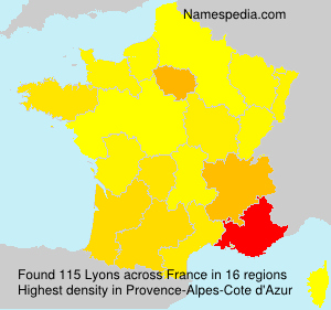 Surname Lyons in France