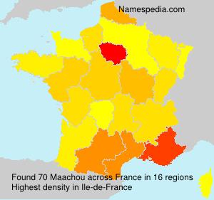 Surname Maachou in France