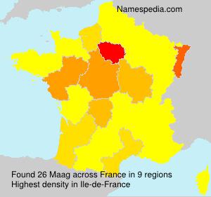 Familiennamen Maag - France