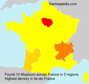 Surname Maaloum in France