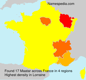 Surname Maatar in France