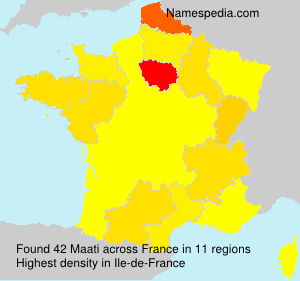 Surname Maati in France