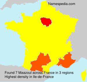 Surname Maazoul in France