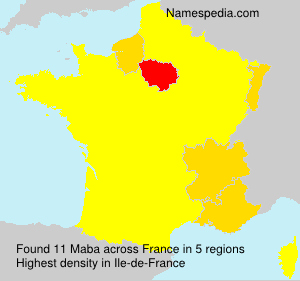 Surname Maba in France
