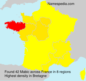 Surname Mabic in France