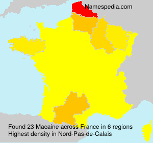 Surname Macaine in France