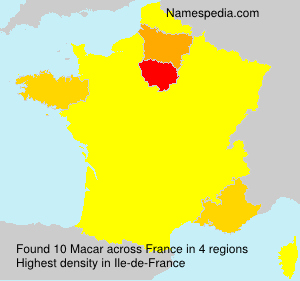 Surname Macar in France
