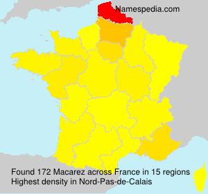 Surname Macarez in France