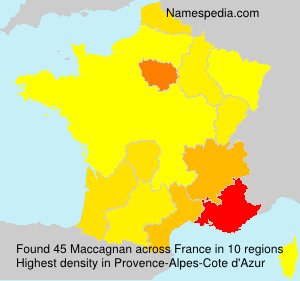 Surname Maccagnan in France