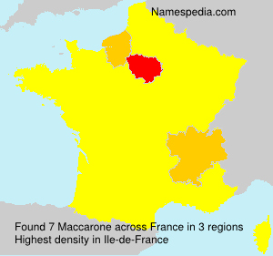 Surname Maccarone in France