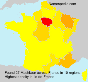 Surname Machkour in France