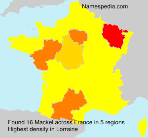 Surname Mackel in France
