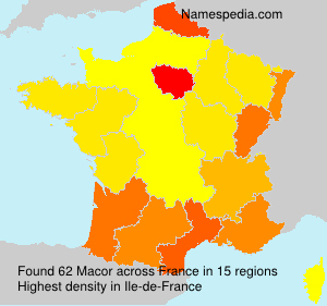 Surname Macor in France