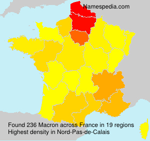 Surname Macron in France