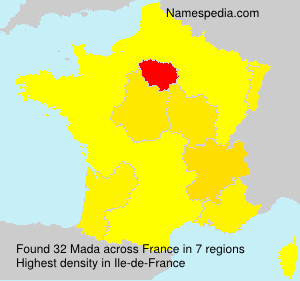 Surname Mada in France