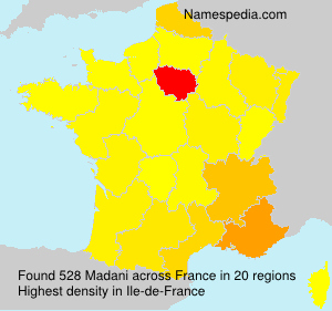Surname Madani in France