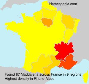 Surname Maddalena in France