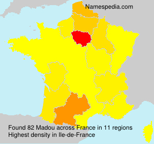 Surname Madou in France
