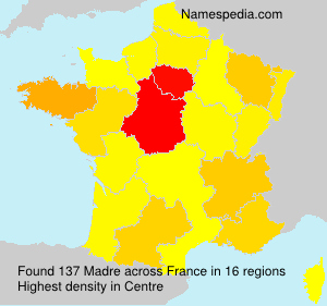 Surname Madre in France