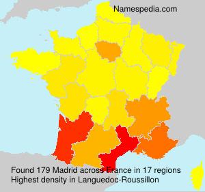 Surname Madrid in France