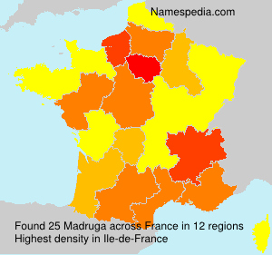 Surname Madruga in France