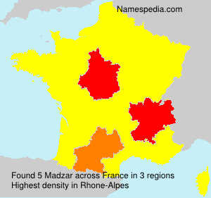 Surname Madzar in France