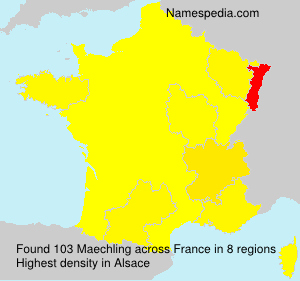 Surname Maechling in France