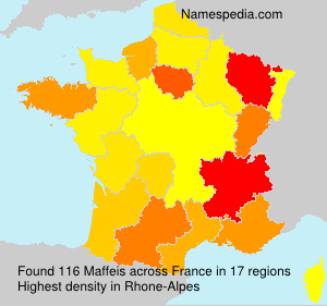 Surname Maffeis in France