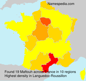 Surname Maftouh in France