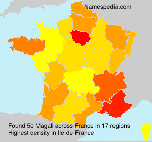 Surname Magali in France