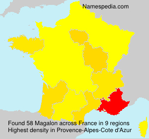 Surname Magalon in France