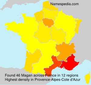 Surname Magan in France