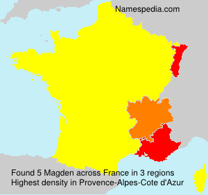 Surname Magden in France
