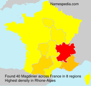 Surname Magdinier in France