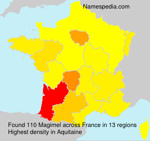 Surname Magimel in France